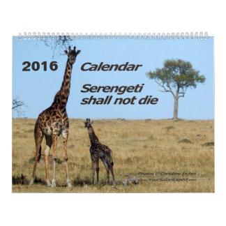 Serengeti no morirá página del calendario 2
