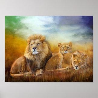 Serengeti Pride Fine Art Poster/Print Poster