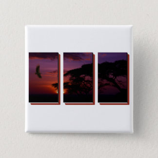 Serengeti Sunset and Vulture Button