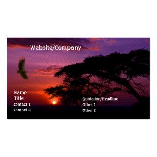 Serengeti Sunset Business Cards