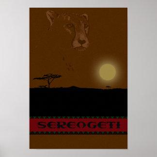 Serengeti Travel Poster