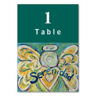 Sereniad Inspirational Angel Custom Table Cards