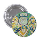 Serenidad Angel Art Button Lapel Pin Pendant