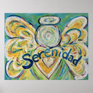 Serenidad Angel Art Poster Prints