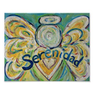 Serenidad Angel Inspirational Art Print Poster