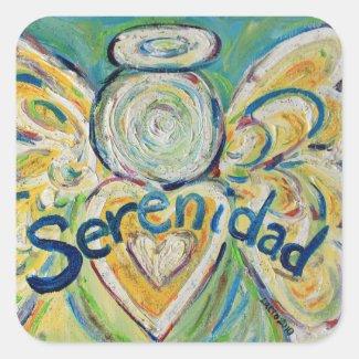 Serenidad Angel Inspirational Word Decal Stickers