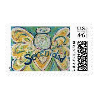 Serenidad Angel Postage Stamp stamp