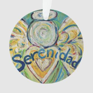 Serenidad Angel Word Art Gift Holiday Ornament