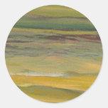 Serenidad - arte del océano de CricketDiane Etiquetas Redondas