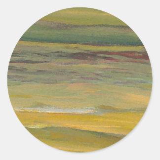 Serenidad - arte del océano de CricketDiane Pegatina Redonda