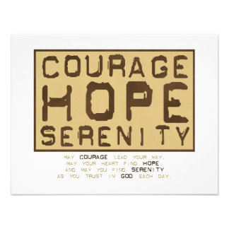 Serenidad de la esperanza del valor 1 comunicado personalizado