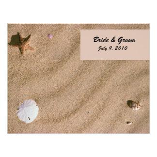 "Serenidad de la playa doblada casando programa folleto 8.5"" x 11"""