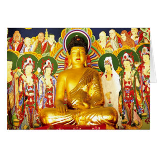 Serenidad de la tranquilidad de la paz de Buda Felicitación
