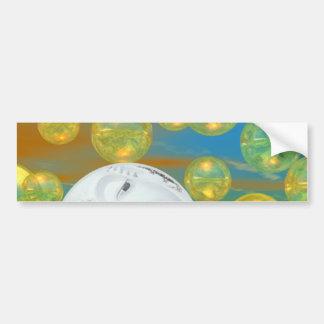 Serenidad de oro y esmeralda de la paz - pegatina de parachoque