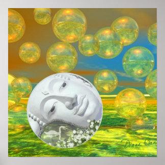 Serenidad de oro y esmeralda de la paz - poster