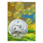 Serenidad de oro y esmeralda de la paz - tarjetas