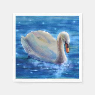 Serenidad del cisne servilletas desechables