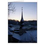 Serenidad del invierno tarjeta de felicitación