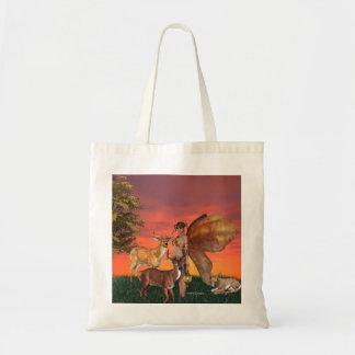Serenidad del otoño bolsa tela barata