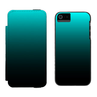 Serenidad del suelo marino funda billetera para iPhone 5 watson