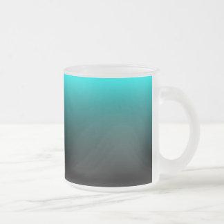 Serenidad del suelo marino taza de café esmerilada