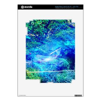Serenidad en el jardín pegatinas skins para iPad 3