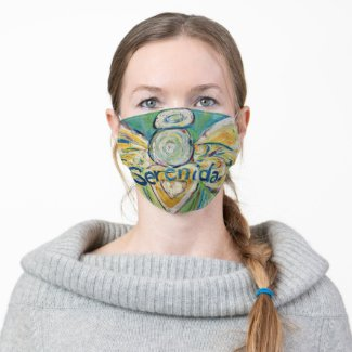 Serenidad Guardian Angel Art Custom Face Masks