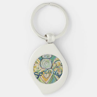 Serenidad Guardian Angel Word Custom Keychains