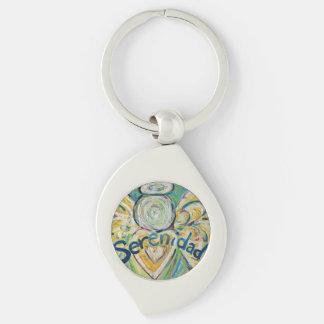 Serenidad Guardian Angel Word Custom Keychains