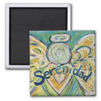 Serenidad Guardian Angel Word Custom Magnets