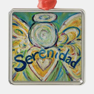 Serenidad Inspirational Angel Word Ornament