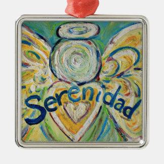 Serenidad Inspirational Angel Word Ornament