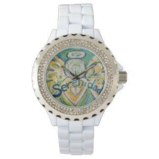 Serenidad Inspirational Guardian Angel Wrist Watch