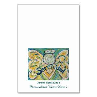Serenidad Inspirational Word Angel Table Tent Card