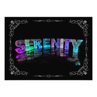 Serenidad - la serenidad conocida en 3D se enciend Cojinete