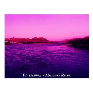 Serenidad, pie Benton - el río Missouri Tarjeta Postal