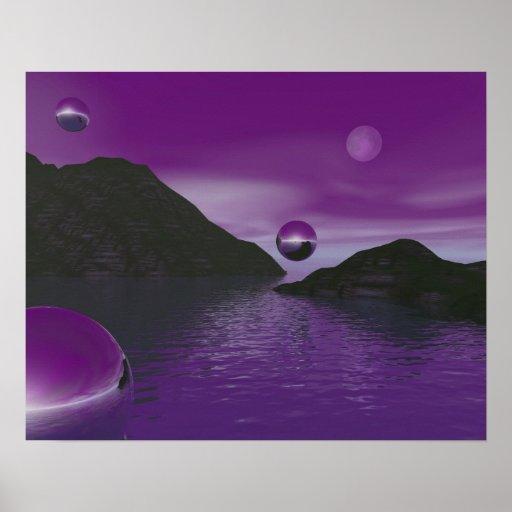 Serenidad púrpura póster