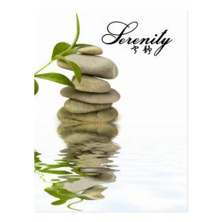 Serenidad - rocas del zen con el bambú postal