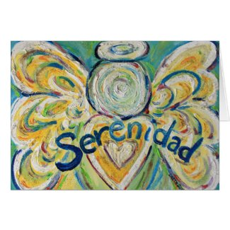 "Serenidad ""Serenity"" Word Angel Greeting Card"