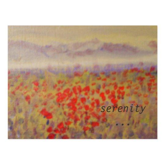 """""""serenidad"""" - una postal de la impresión del arte"""