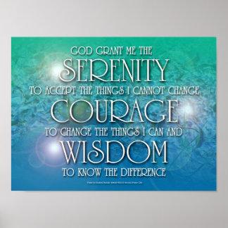 Serenidad, valor, poster de la sabiduría