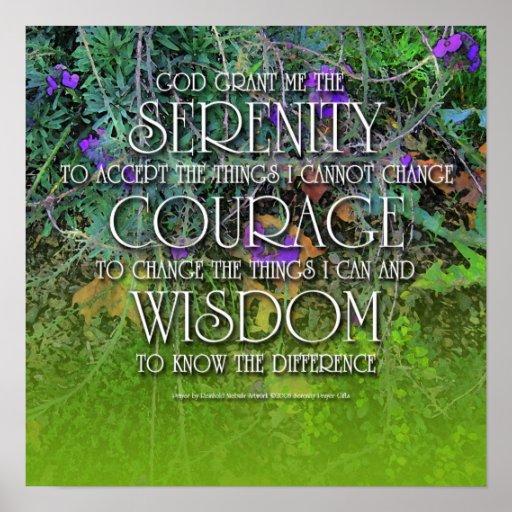 Serenidad, valor, poster de la sabiduría 2