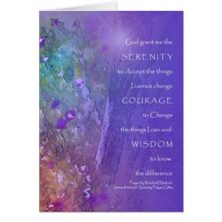 Serenidad, valor, rezo de la sabiduría tarjeta de felicitación