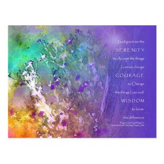 Serenidad, valor, rezo de la sabiduría tarjeta postal