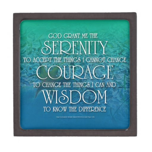 Serenidad, valor, sabiduría cajas de recuerdo de calidad