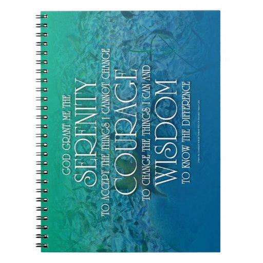 Serenidad, valor, sabiduría libros de apuntes con espiral