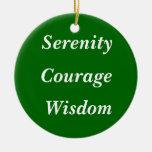 Serenidad, valor, sabiduría ornamento para arbol de navidad