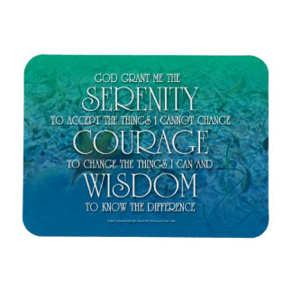 Serenidad, valor, sabiduría imán rectangular
