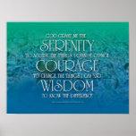 Serenidad, valor, sabiduría impresiones