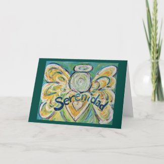 Serenidad Word Angel Inspirational Greeting Card
